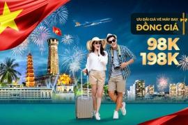 Vietnam Airlines mở bán vé nội địa đồng giá 89k, 198k nhân dịp Quốc Khánh 2/9