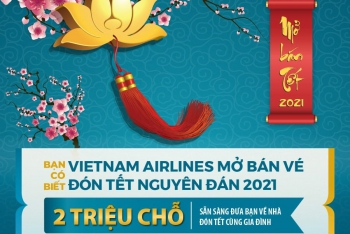 Vietnam Airlines chính thức mở bán 2 triệu vé máy bay nội địa Tết Tân Sửu 2021
