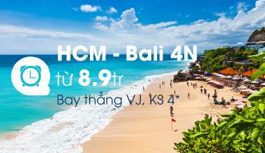 HCM - Bali 4N từ 8,9 tr - Bay thẳng VJ, KS 4*