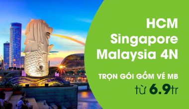 Tour Singapore - Malay từ 6,9 tr